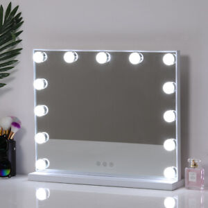 Large Hollywood Vanity Make Up Dressing Table Mirror w/Dimmable LED Light Bulbs