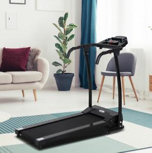 -HOMCOM Treadmill Machine Home Gym Fitness Indoor Folding Running Machine w/ LCD