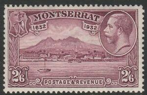 Montserrat 1932 300th Anniversary 2/6d Purple SG 92 Mnh.