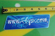 "BLACK FLYS eyewear FLYS.COM BLUE ~6"" Vintage SUNGLASSES Surfing Decal STICKER"