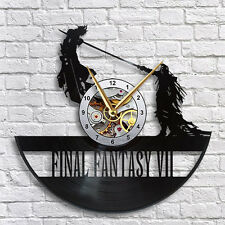 Final Fantasy 7 Cloud vs Sephiroth Vinyl LP Record Wall Clock Gift Idea