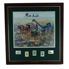 Mort Kunstler GOLDEN HARVEST Framed Wall Art Farm Farmer Tractor John Deere