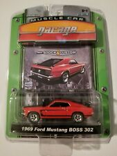 Greenlight 1969 Ford Mustang Boss 302 Red 2009 Muscle Car Garage New