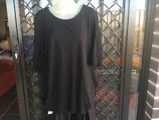 David Jones Women's T-Shirt - Black, Short Sleeve, Cotton - Size XL