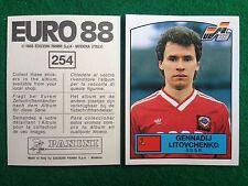 EURO 88 1988 n 254 RUSSIA LITOVCHENKO , Figurina Sticker Calciatori Panini NEW