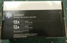 HP Laserjet 12A Black Laser Toner Dual Pack Q2612D NEW Sealed Genuine