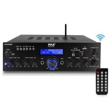 Pyle Bluetooth-Stereo-Amplifier-Receiver, MP3/USB/SD/AUX/FM Radio, AV Inputs