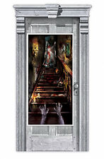 Halloween Party Door Banner Party Decoration Haunted House Stairway Door Poster
