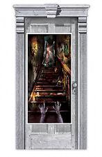 Fiesta Halloween Puerta Banner de Decoración Casa Encantada Escalera Cartel para