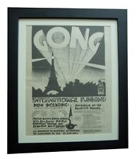 GONG+Camembert+TOUR+POSTER+AD+RARE ORIGINAL 1971+QUALITY FRAMED+FAST GLOBAL SHIP