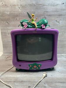 """Rare Disney Fairies 13"""" Tube TV Tinker Bell Girl Gamer Childrens No Remote"""