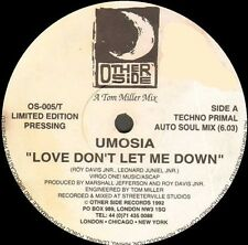 Umosia - Love Don'T Let Me down (Produced by Marshall Jefferson a - other Side