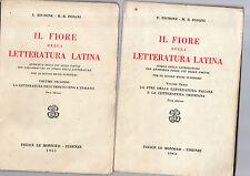 il fiore della letteratura latina-  volumi 1961-1963 -