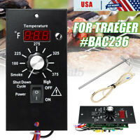 BAC236 Digital Thermostat Control Board + Probe For Traeger Wood Pellet  i ⊥