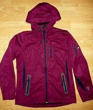 NEU Damen Outdoor Fleece Jacke Mantel Outdoorjacke Beere Lila 34,36, S