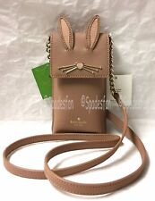Kate Spade 8ARU2653 RABBIT North South Phone Crossbody iPhone 7 8 X Case TAN NWT