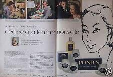 PUBLICITÉ 1957 LIGNE CRÈME POND'S DÉDIÉE À LA FEMME NOUVELLE - ADVERTISING