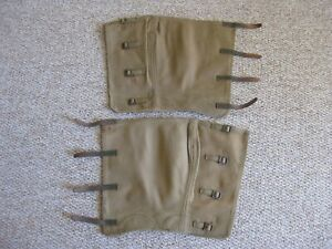 WW2 dated 37 Pattern long / despatch riders gaiters nos