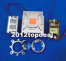 50W DIY led grow light 380-840nm kit,chip,driver,heatsink, fan ,90 degre lens