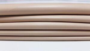 NUDE Pinkish Beige Italian genuine Lambskin Lamb leather skins 0.7mm 5-9sqf