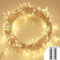 100 LED Outdoor Battery Fairy String 11M 8 Modes, Dimmable, IP65 Timer
