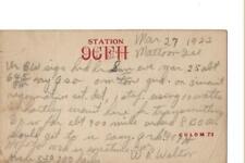1923 9CFH  Mattoon Ill. . QSL radio card