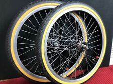Ambrosio Old School BMX 1980s 20 inch Wheel Set SR 84 Hubs 16t Tires Tubes