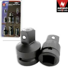 "Neiko 8 Piece Air Impact Socket Adapter And Reducer Set 1"" 3/4"" 1/2"" 3/8"" 1/4"""