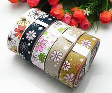 10yards mixed 5color dot sewing satin grosgrain ribbon lot wholesale AX-253