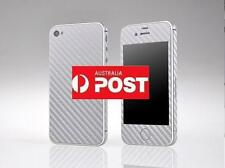 1pc New Silver Carbon Fiber Skin Sticker Cover Case Protector for iphone 4/4G