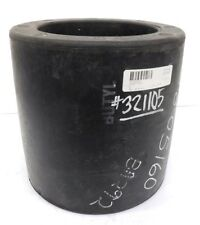 "NO BRAND RUBBER BUSHING B-5031, BUTYL RUBBER TYPE, POST CURED, 9 3/4"" H, 7"" ID"