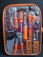 NEW Black & Decker Junior 20 Pc Tool Set Backpack Kids Toy Hand Saw Hammer NIP