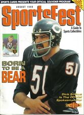 1999 Sportsfest Football magazine Collectibles Guide Dick Butkus  Chicago Bears