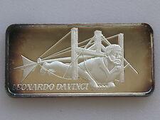1974 Hamilton Mint Leonardo Da Vinci HAM-641 Silver Art Bar D2208
