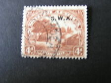 S.W.AFRICA, SCOTT # 101a. 4p.VALUE 1927-28  OVERPRINTED S.W.A. ISSUE USED