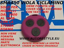 COVER VIOLA CICLAMINO PER TELECOMANDO SMART FORTWO 450 3 TASTI USA TUA CHIAVE