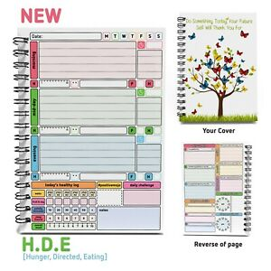 Track Your Habits Wellbeing Health Moods Meals HDE Planner Log Journal Book 💃