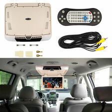 15.6'' Car Monitor with DVD MP5 Player Roof Mounted View TFT LCD Monitor Beige