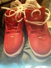 DC Legacy 98 Slim Shoes Red Leather Skateboard Shoes EUR 44.5 Mens US Size 11