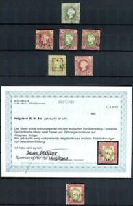 HELGOLAND 1867-1890 meist gestempelte SAMMLUNG mit SPITZENWERTEN geprüft (86756c