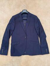 TopShop TopMan Men's Navy Blue Suit Set Blazer Jacket US 40 and Pants 32R Formal