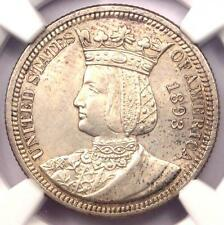 1893 Isabella Commemorative Quarter 25C - NGC Uncirculated Details (MS UNC)!