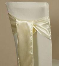 25 Satin Chair Sash Bow Sashes Bows Band Tie Wedding Banquet Party decoration