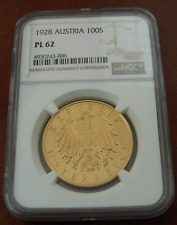 Österreich 1928 Gold 100 Schilling NGC PL62 Prooflike