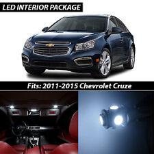 2011-2015 Chevrolet Cruze White Interior LED Lights Package Kit