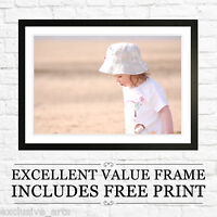 Your PHOTO / PICTURE onto LARGE A2 FRAMED  PERSONALISED print -BLACK-OAK-WALNUT