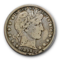 1898 O 50C Barber Half Dollar Fine to Very Fine Better Date New Orleans #9792