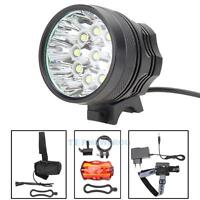 25000LM 10X CREE XM-L T6 LED Head Bicycle Bike HeadLight Light Headlamp Torch