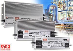 LED Netzteil MeanWell HLG A-Serie 12 - 54V Schaltnetzteil IP65 Trafo 40 - 600 W