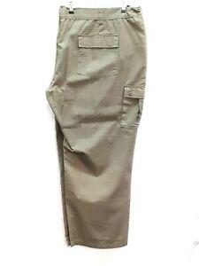 "Larger Mens KAM  cargo trousers  olive  60 "" 31"" leg"